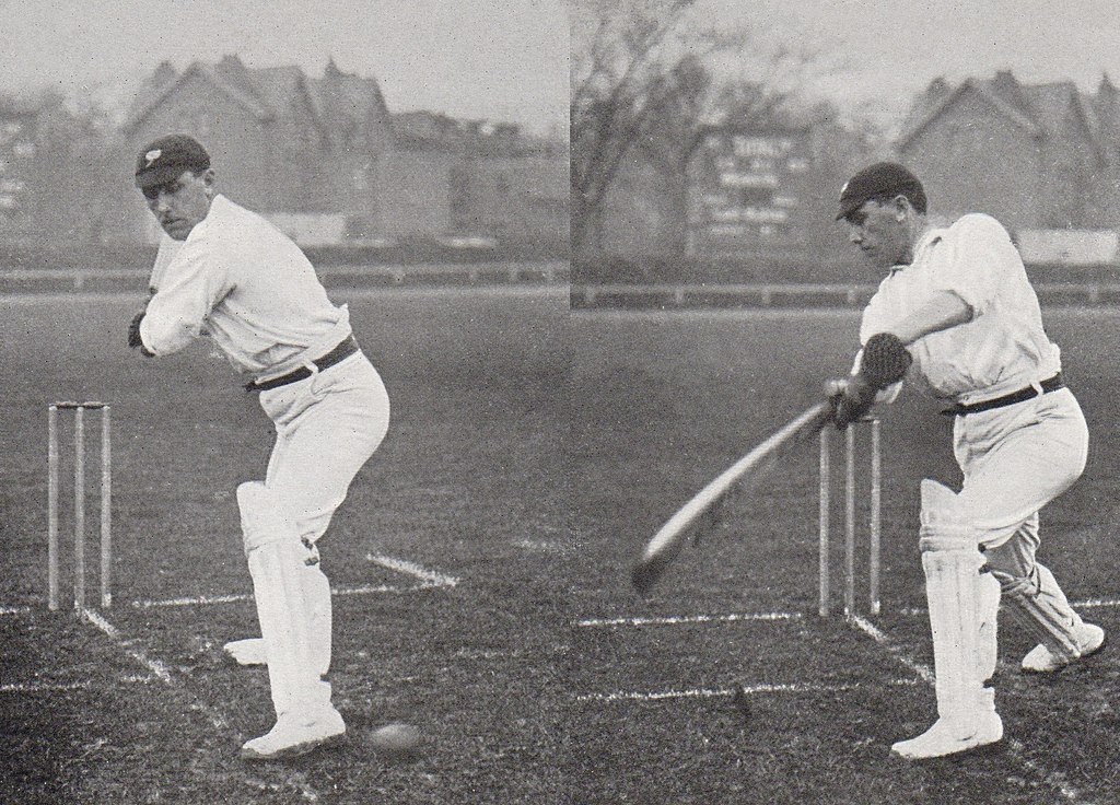 Wilfred Rhodes batting