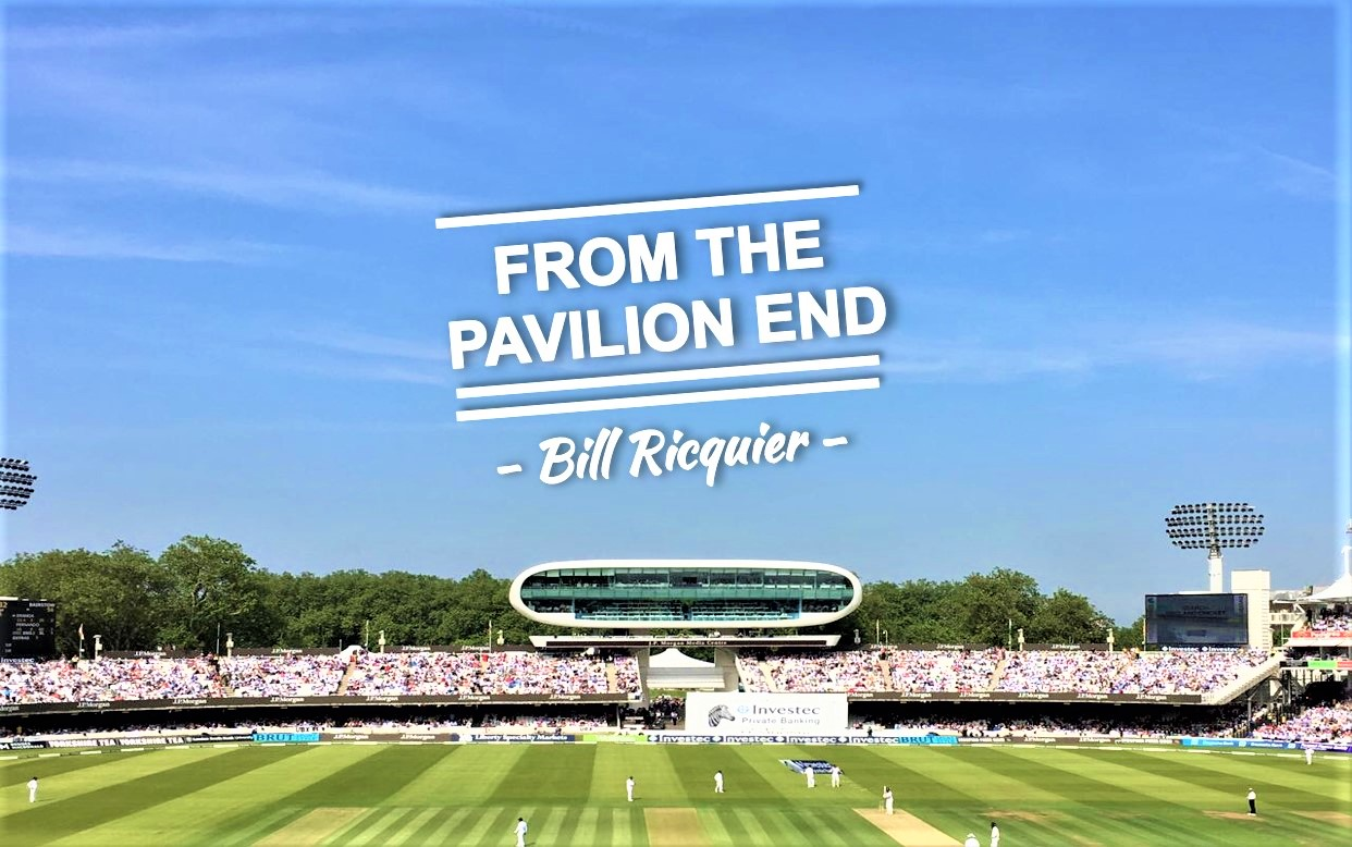 Bill Pavilion End, Bill Ricquier's Cricket Views
