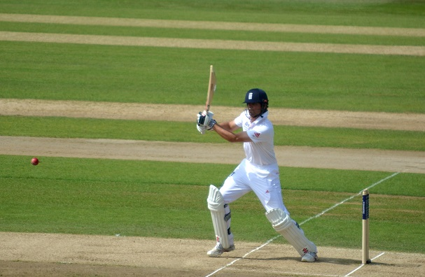 Cook batting during the third Test during the 2013 Ashes in England. England won the series 3–0; it was Cook's first Ashes series as captain.