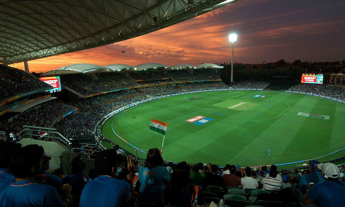 Adelaide Oval - The sky is red, and the heart bleeds blue by Rajiv Bhuttan